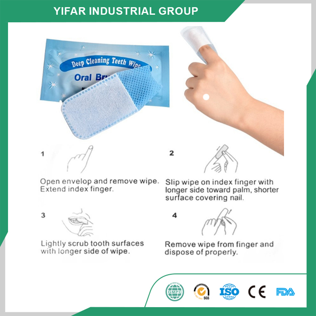 OEM Food Class Biodegradeable Disposable Teeth wipes