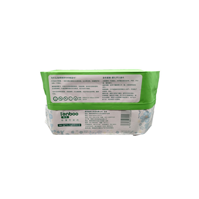 100% bamboo biodegradable eco-friendly baby wet wipes