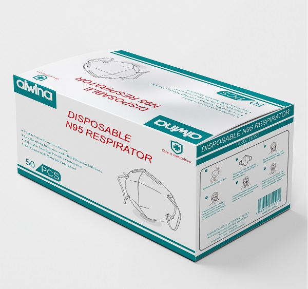 Disposable N95 Respirators with FDA And CE Certificates.